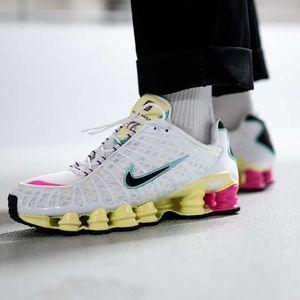 Nike Shox TL Air Max White Multi Athletic Shoes